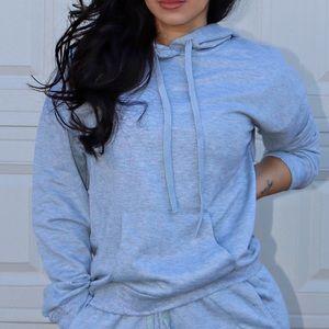 Sweaters - Grey hoodie